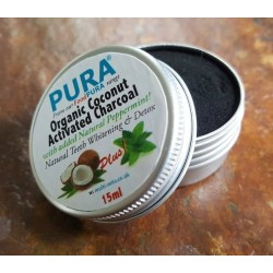 COCONUT ACTIVATED CHARCOAL + PEPPERMINT - 20ML POT